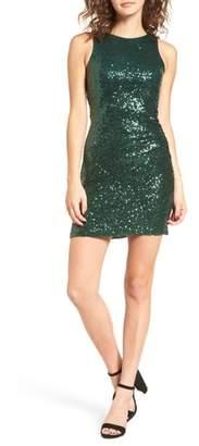 Speechless Sequin Cutout Dress