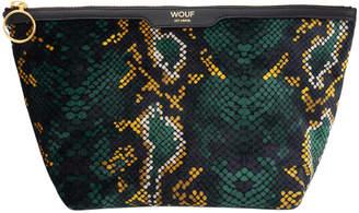 Wouf - Snakeskin Velvet Cosmetic Bag