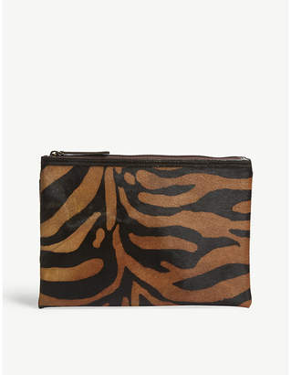 Mystique Animal print ponyhair clutch bag
