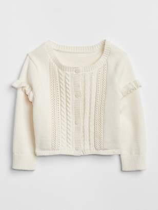 Gap Ruffle Cardigan Sweater