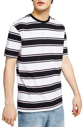 Topman Stripe Crewneck T-Shirt