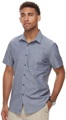 Marc Anthony Men's Slim-Fit Stretch Woven Button-Down Shirt