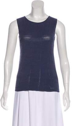 Chanel Sleeveless Pointelle Top