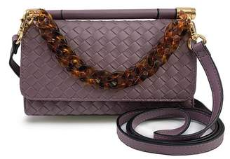 Violet Ray Woven Wallet Crossbody Bag