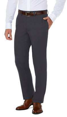 """Haggar Sharkskin Stretch Slim Fit Flat Front Suit Separate Pants - 30-34\"""" Inseam"""