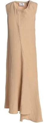 Acne Studios Asymmetric Linen-Blend Midi Dress