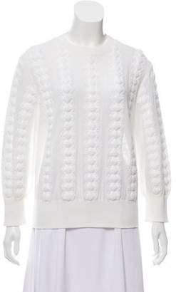 Chanel Semi-Sheer Matelassé Sweater