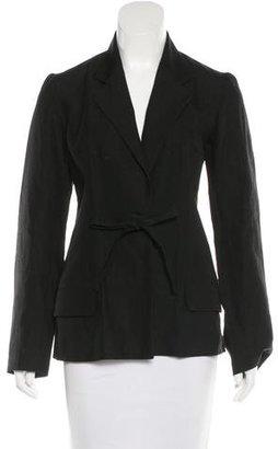 Yohji Yamamoto Notched Lapel Tie Blazer $205 thestylecure.com