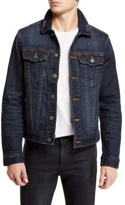 True Religion Men's Danny Dark Tunnel Denim Jacket