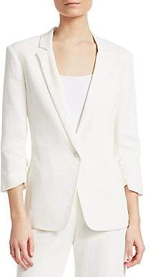 Halston Women's Ruched Three-Quarter Jacket