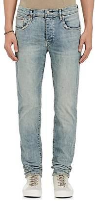 Purple Men's P001 Distressed Slim Jeans - Lt. Blue