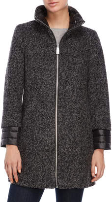 Kenneth Cole Charcoal Boucle Wool Coat