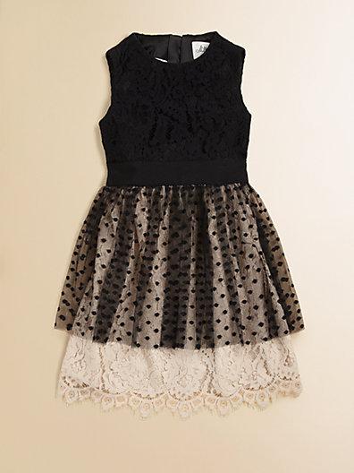Milly Minis Girl's Jane Peplum Dress
