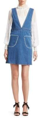 See by Chloe Denim V-Neck Dress