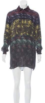Mary Katrantzou Silk Shirt Dress w/ Tags