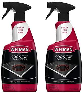 Weiman Ceramic & Glass Cooktop Cleaner - 12 Ounce 2 Pack - Daily Use Professional Home Kitchen Cooktop Cleaner and Polish Use On Induction Ceramic Gas Portable Electric