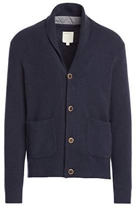 Life After Denim Men's Long Sleeve Oak Park Wool Blend Shawl Collar Cardigan