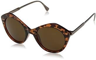 Joe's Jeans Women's Jj 6032 Geometric Fashion Round Sunglasses