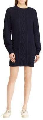 Polo Ralph Lauren Aran Wool Sweater Dress