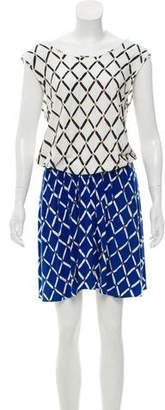 Tibi Printed Knee-Length Dress