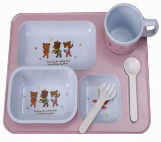 Black Temptation Practical Baby Eating Plates Children's Tableware Cute Points Tray, Style B
