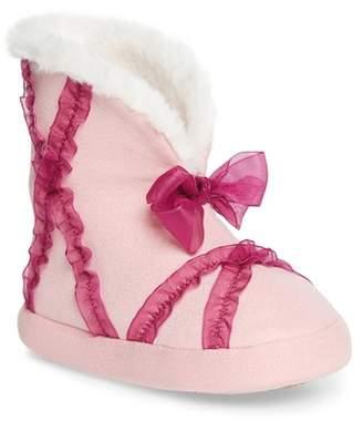 WELLIEWISHERS BY AMERICAN GIRL Emerson Faux Fur Lined Tulle Slipper (Walker, Toddler, Little Kid & Big Kid)