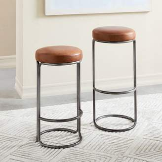 west elm Cora Leather Bar + Counter Stools
