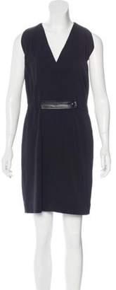 Balenciaga Sleeveless V-Neck Dress Black Sleeveless V-Neck Dress