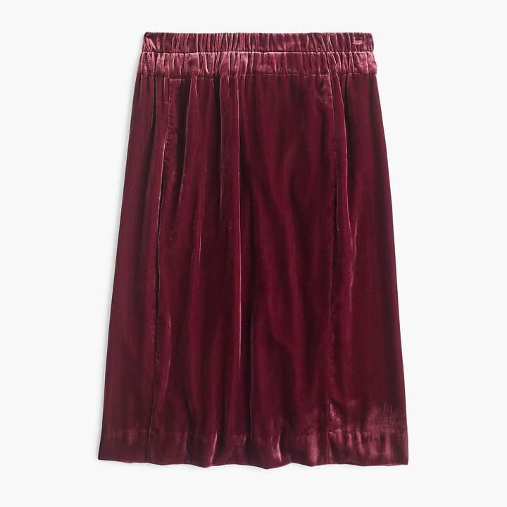 Tall pull-on velvet skirt