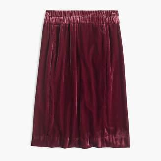 J.Crew Petite pull-on velvet skirt