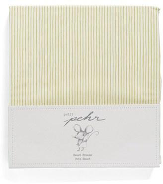 Petit Pehr Pencil Stripe Crib Sheet $36 thestylecure.com