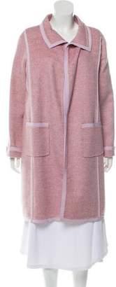 Oscar de la Renta Open Front Cashmere Coat