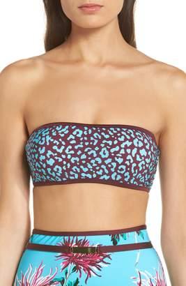 Diane von Furstenberg Print Bandeau Bikini Top