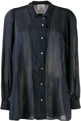 Forte Forte sheer long-sleeve blouse