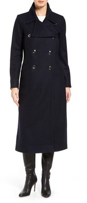 Women's Michael Michael Kors Maxi Double Breasted Wool Blend Coat $300 thestylecure.com