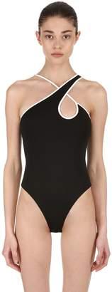 David Koma Asymmetrical Stretch Jackytex Bodysuit