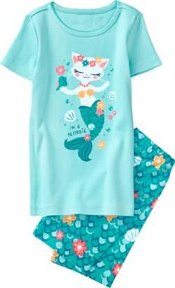 Gymboree Purrmaid 2-Piece Shortie Pajamas