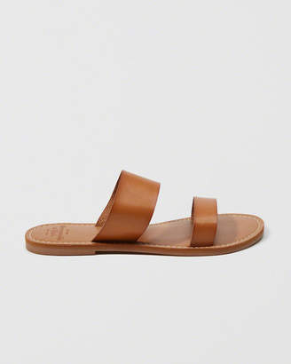 Abercrombie & Fitch Faux Leather Slide Sandals