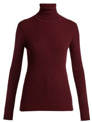 Hillier Bartley - Cashmere Roll Neck Sweater - Womens - Burgundy