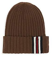 Burberry Women's Icon-Stripe Ribbed Wool Knit Beanie