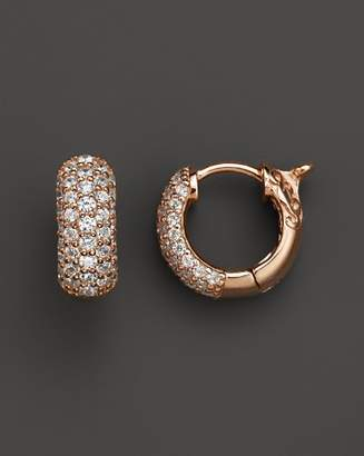 Bloomingdale's Diamond Pavé Huggie Hoop Earrings 14K Rose Gold, .85 ct. t.w. - 100% Exclusive