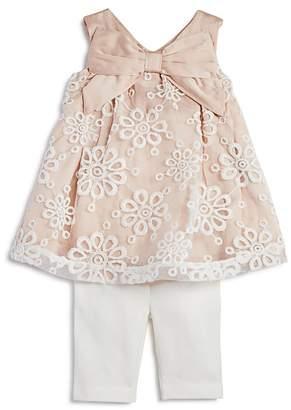 Miniclasix Girls' Lace Tunic & Capri Leggings Set - Baby