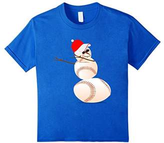 Dabbing Baseball Snowman T Shirt Christmas Pajamas