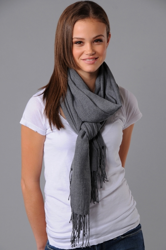Love Quotes Rayon Blend Scarf in Greylange