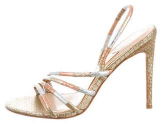 Brian Atwood Metallic Slingback Sandals w/ Tags