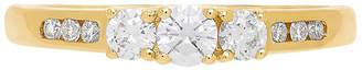 MODERN BRIDE Love Lives Forever Womens 1/5 CT. T.W. White Diamond 14K Gold 3-Stone Ring