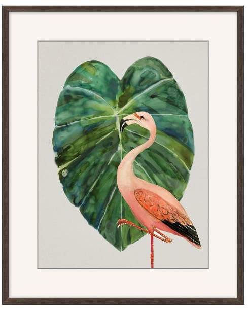 Flamingo & Palm
