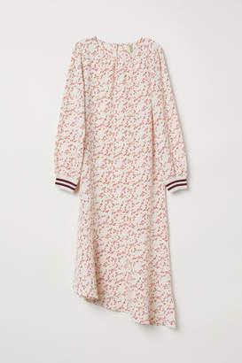 H&M Long-sleeved Dress - Beige