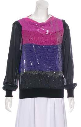 Boy By Band Of Outsiders Sequined Long Sleeve Top