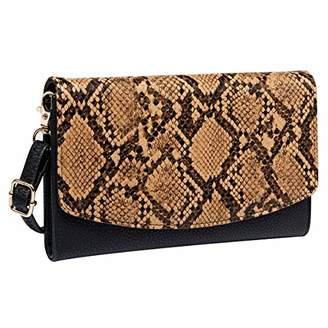 Women's Clutches Purse with Wrist Strap Handbags Snake Print Wallet